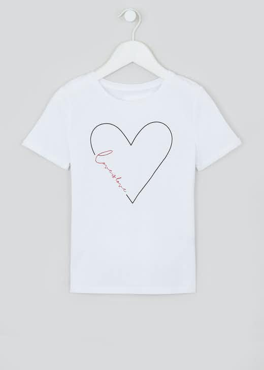 Girls Mini Me Love Is Love Slogan T-Shirt (7-13yrs)