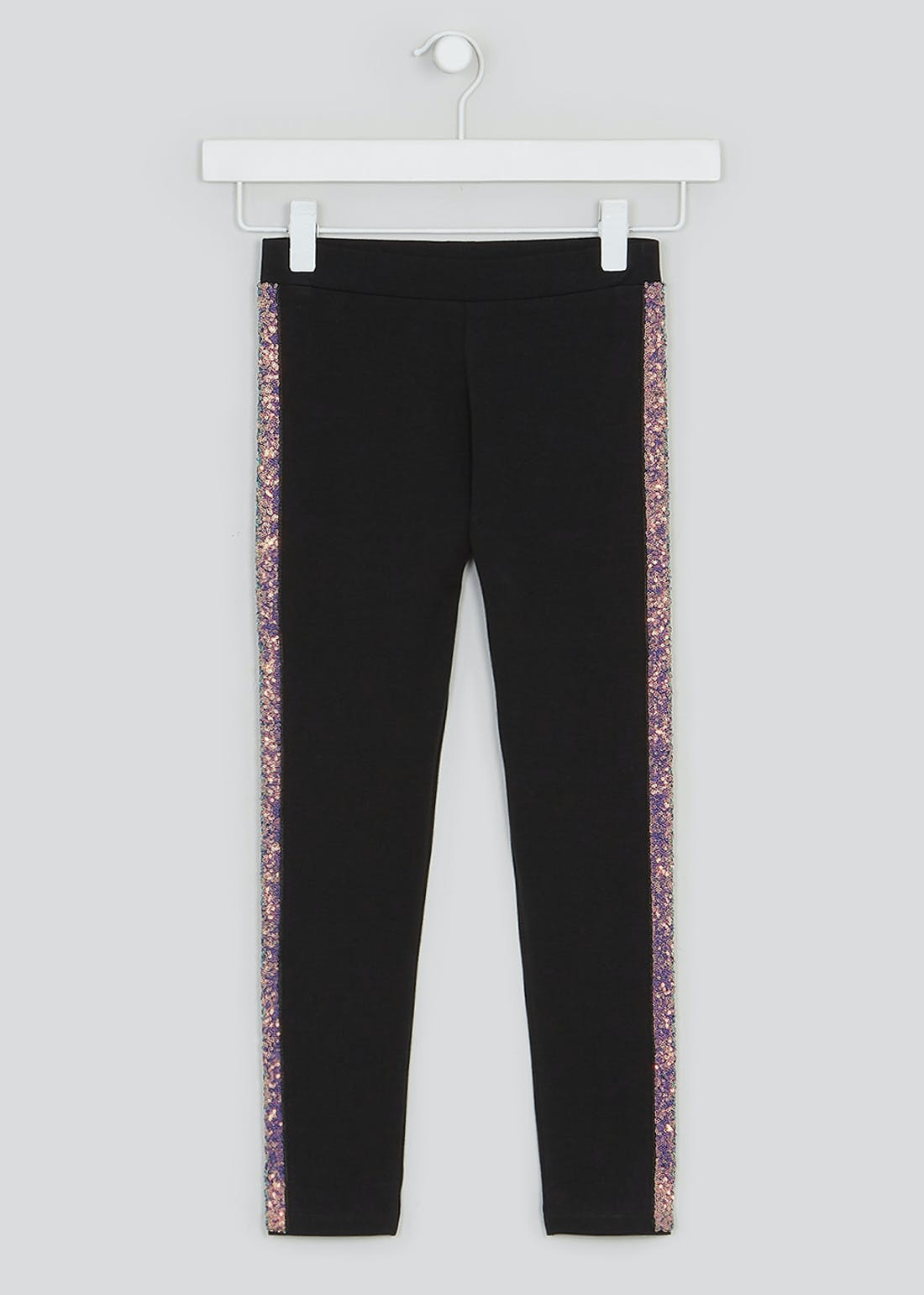 Girls Sequin Trim Leggings (4-13yrs)