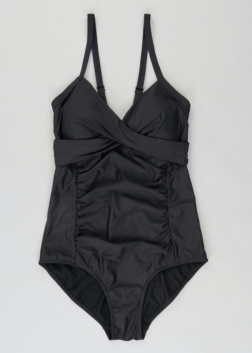 Tummy Control Wrap Front Swimsuit