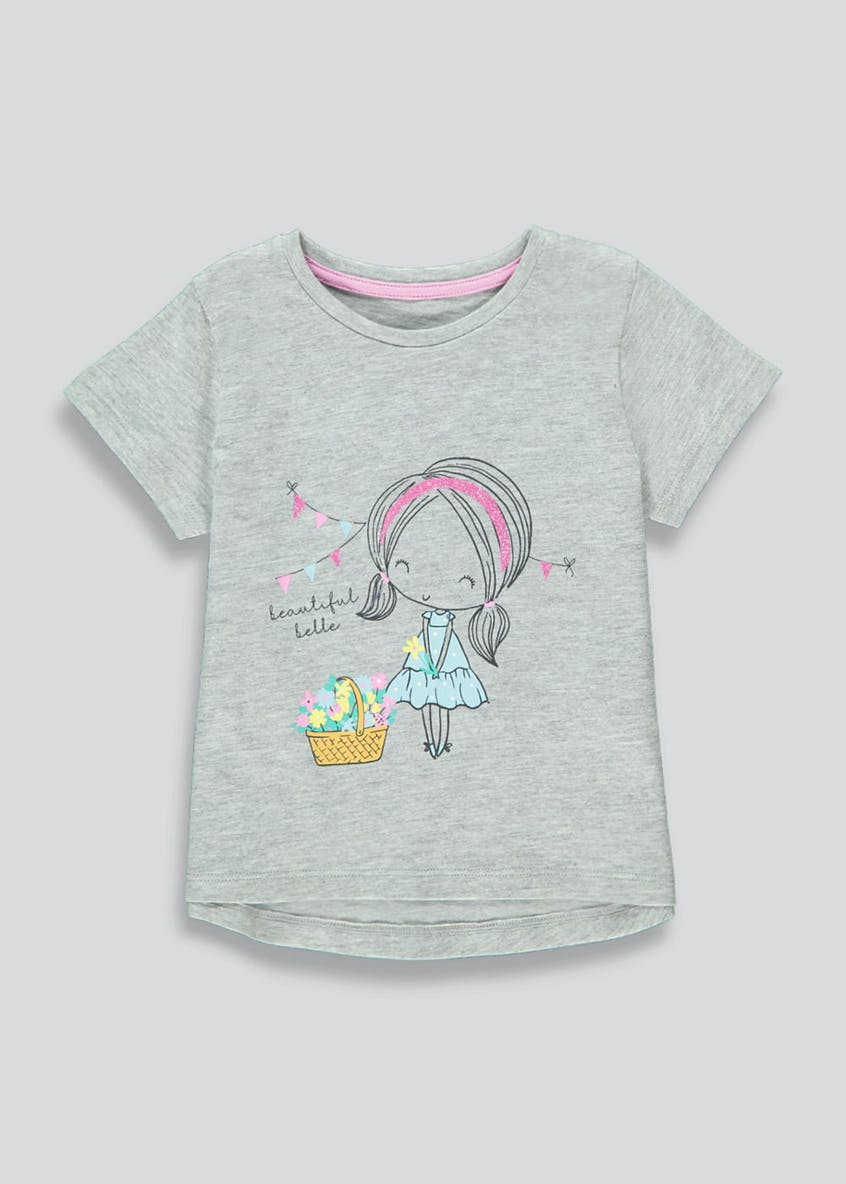 Girls Flower Girl T-Shirt (9mths-6yrs)