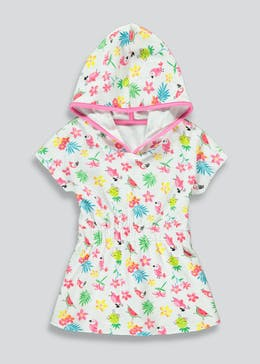 Girls Tropical Print Towel Dress (9mths-6yrs)