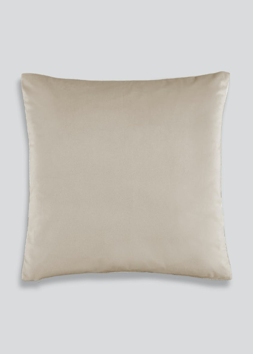Embroidered Leaves Cushion (46cm x 46cm)