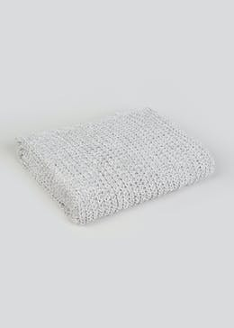 Knitted Chenille Throw Blanket (150cm x 130cm)