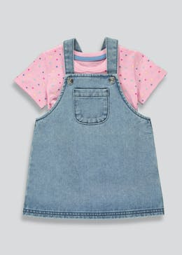Girls Denim Pinafore & T-Shirt Set (9mths-6yrs)