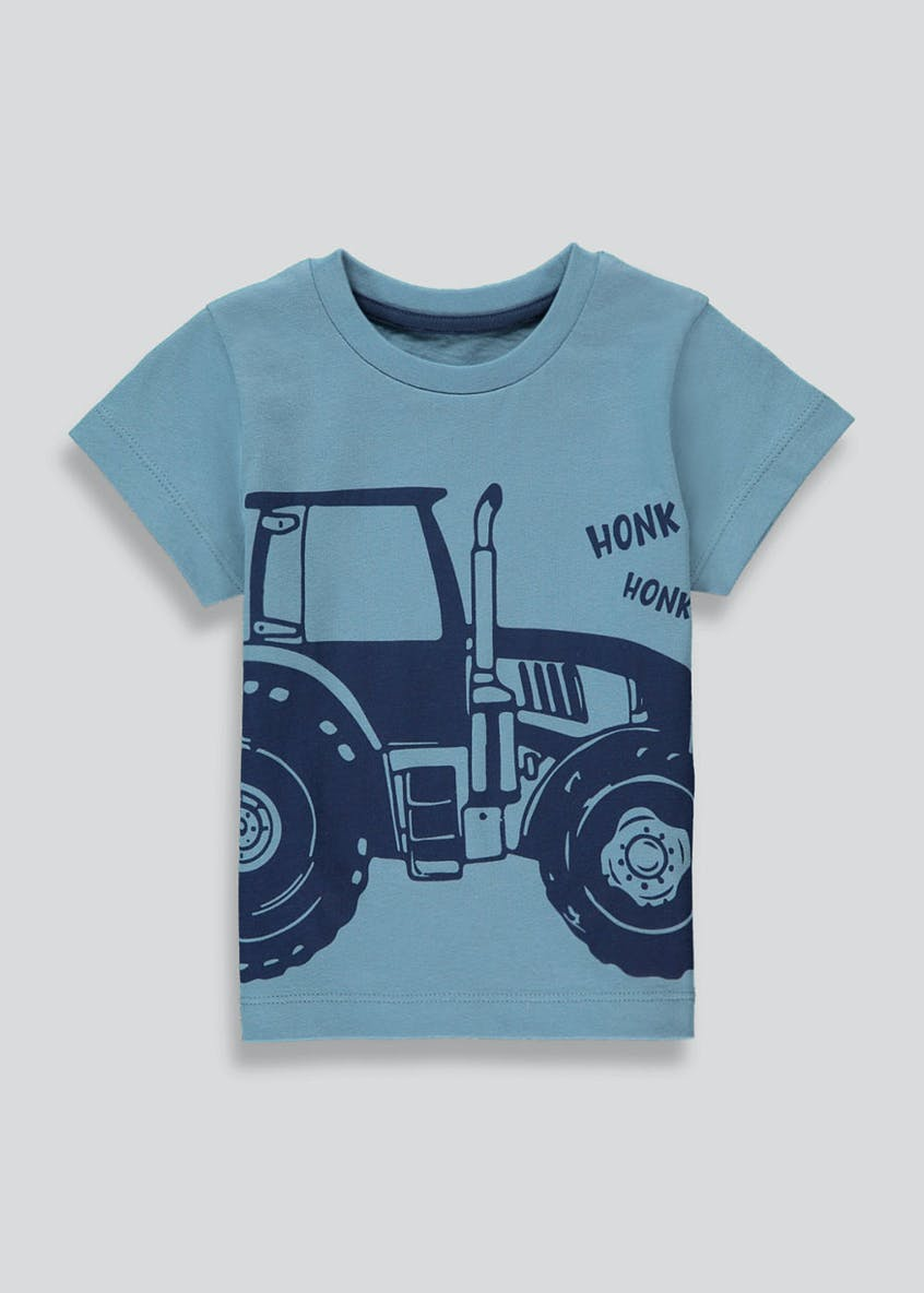 Boys Tractor Print T-Shirt (9mths-6yrs)