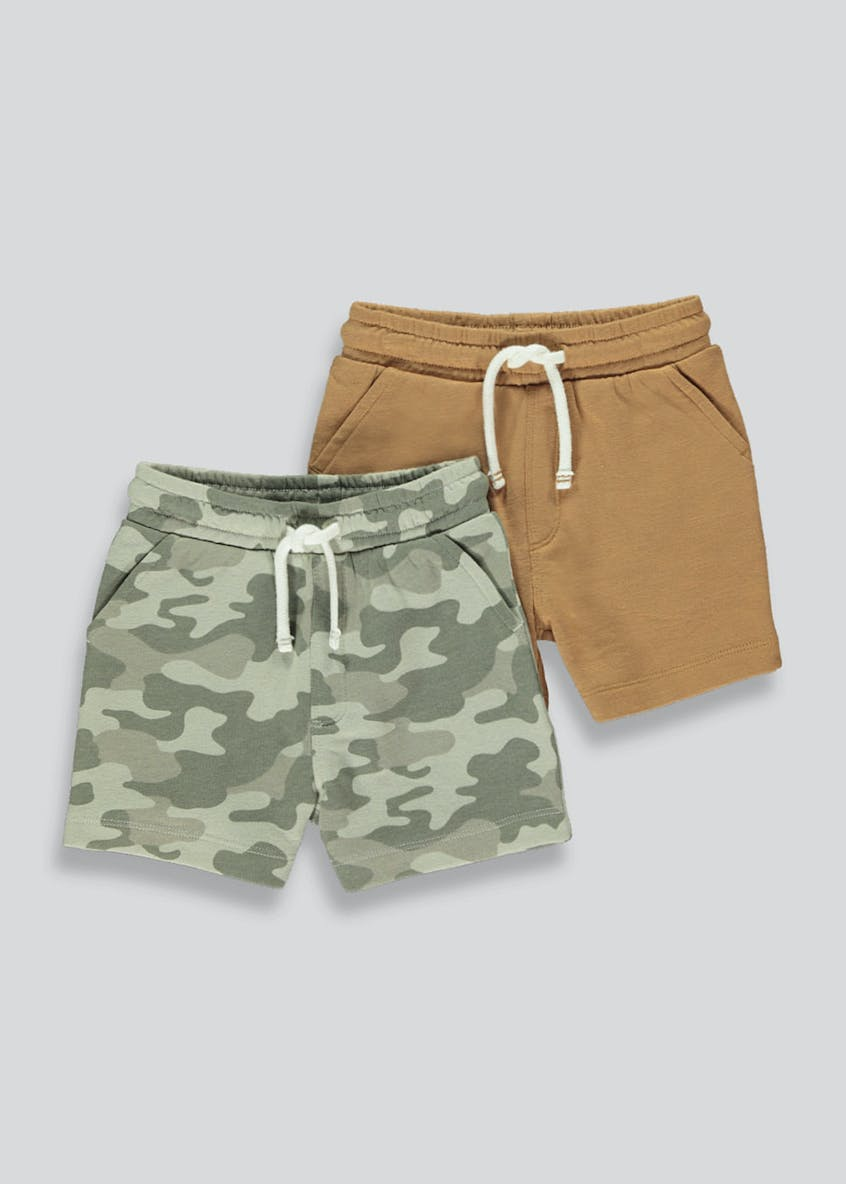Boys 2 Pack Jogging Shorts (9mths-6yrs)