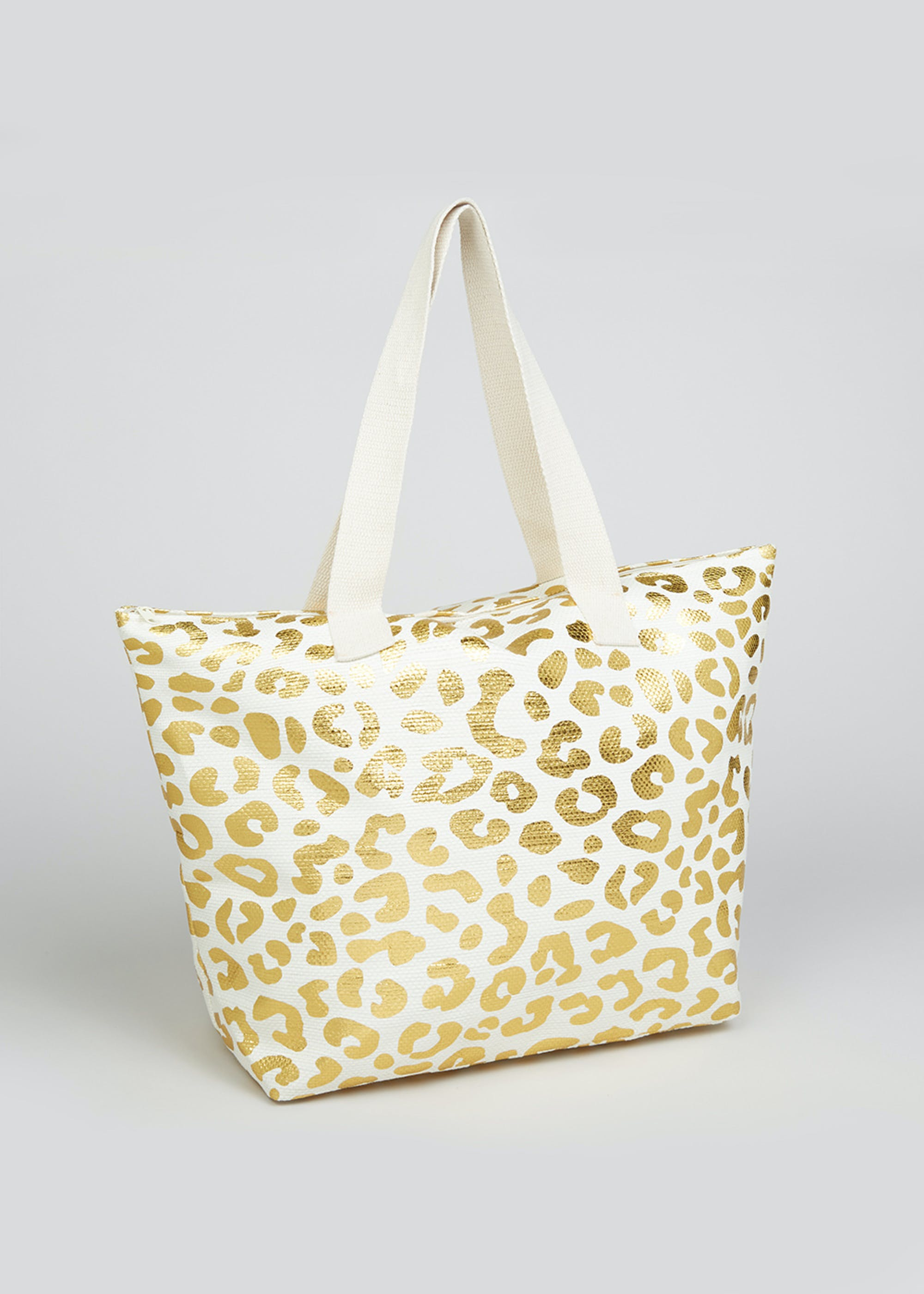 Metallic Leopard Print Beach Bag Gold xL8KwW