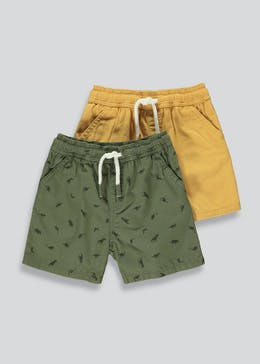 Boys 2 Pack Canvas Shorts (9mths-6yrs)