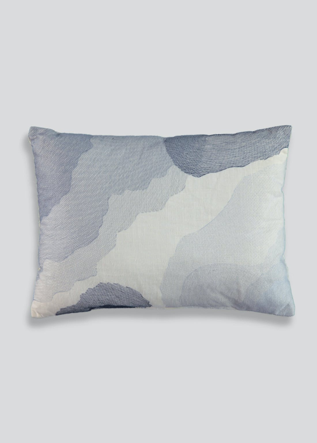 Embroidered Linen Mix Cushion (40cm x 30cm)
