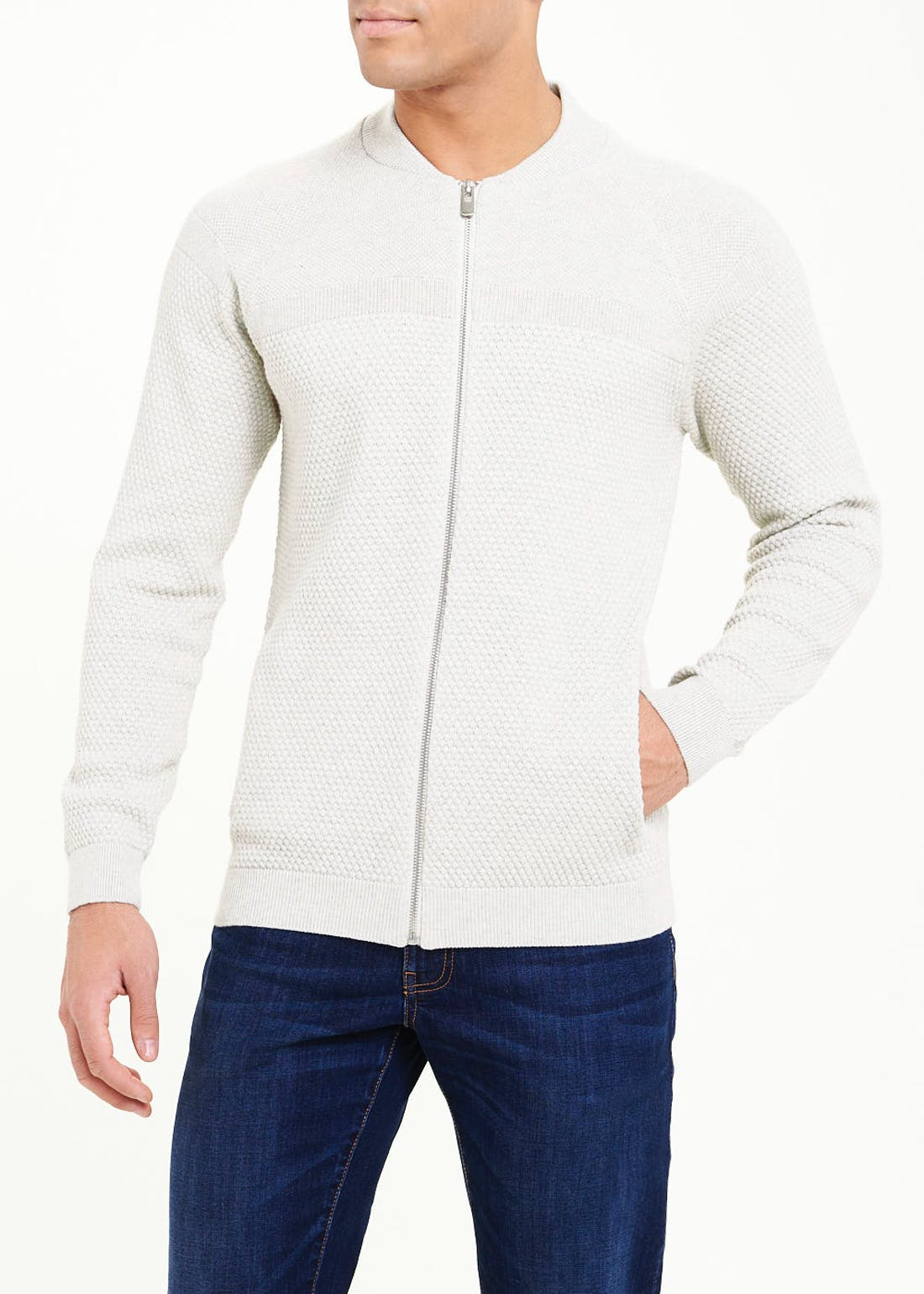 Zip Through Bomber Cardigan