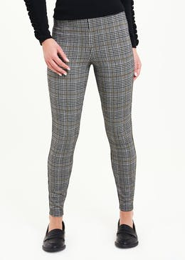 Textured Check Trousers