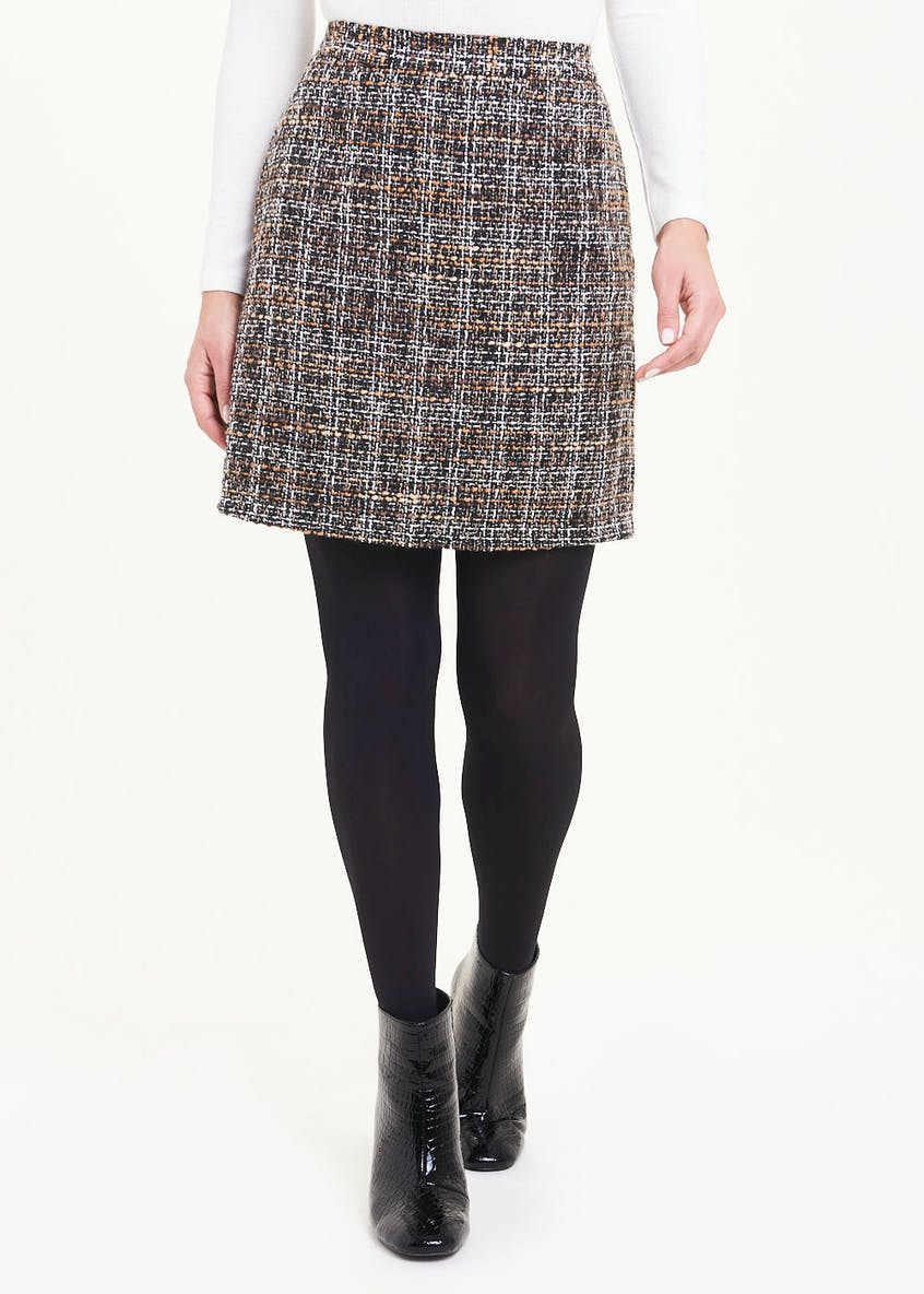 Ombre Boucle A Line Skirt