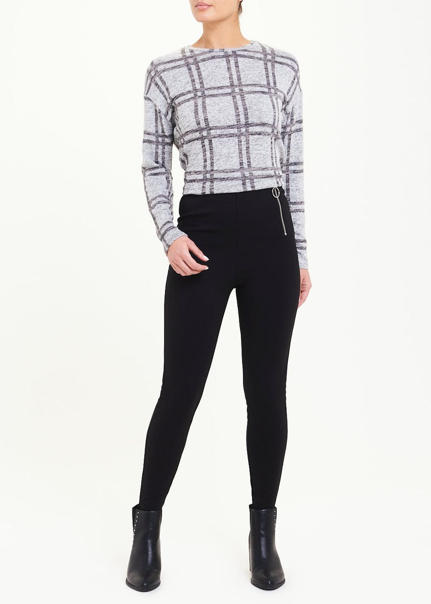 Long Sleeve Soft Touch Check Top