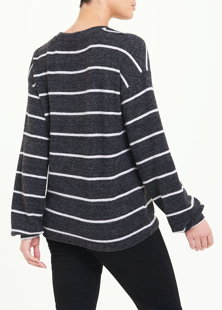 Long Sleeve Soft Touch Stripe Top