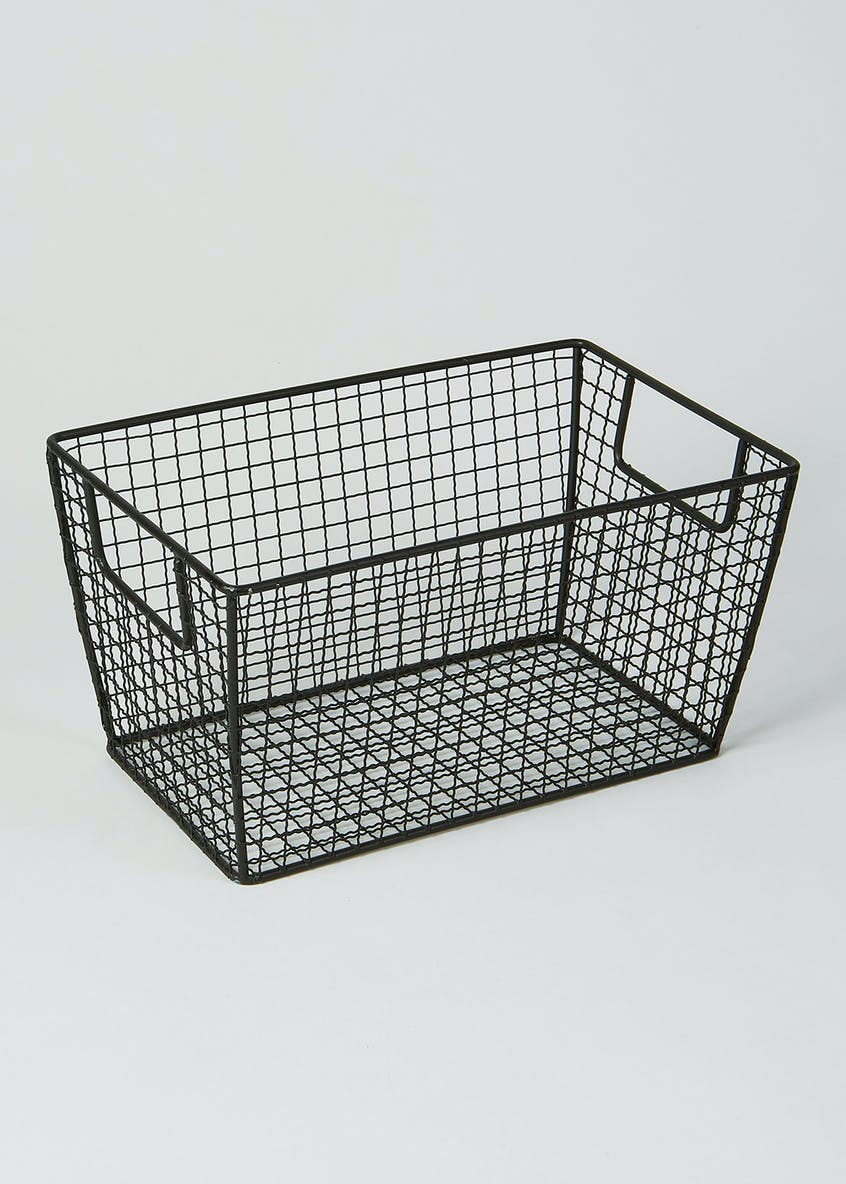 Wire Storage Basket (28cm x 18cm x 15cm)