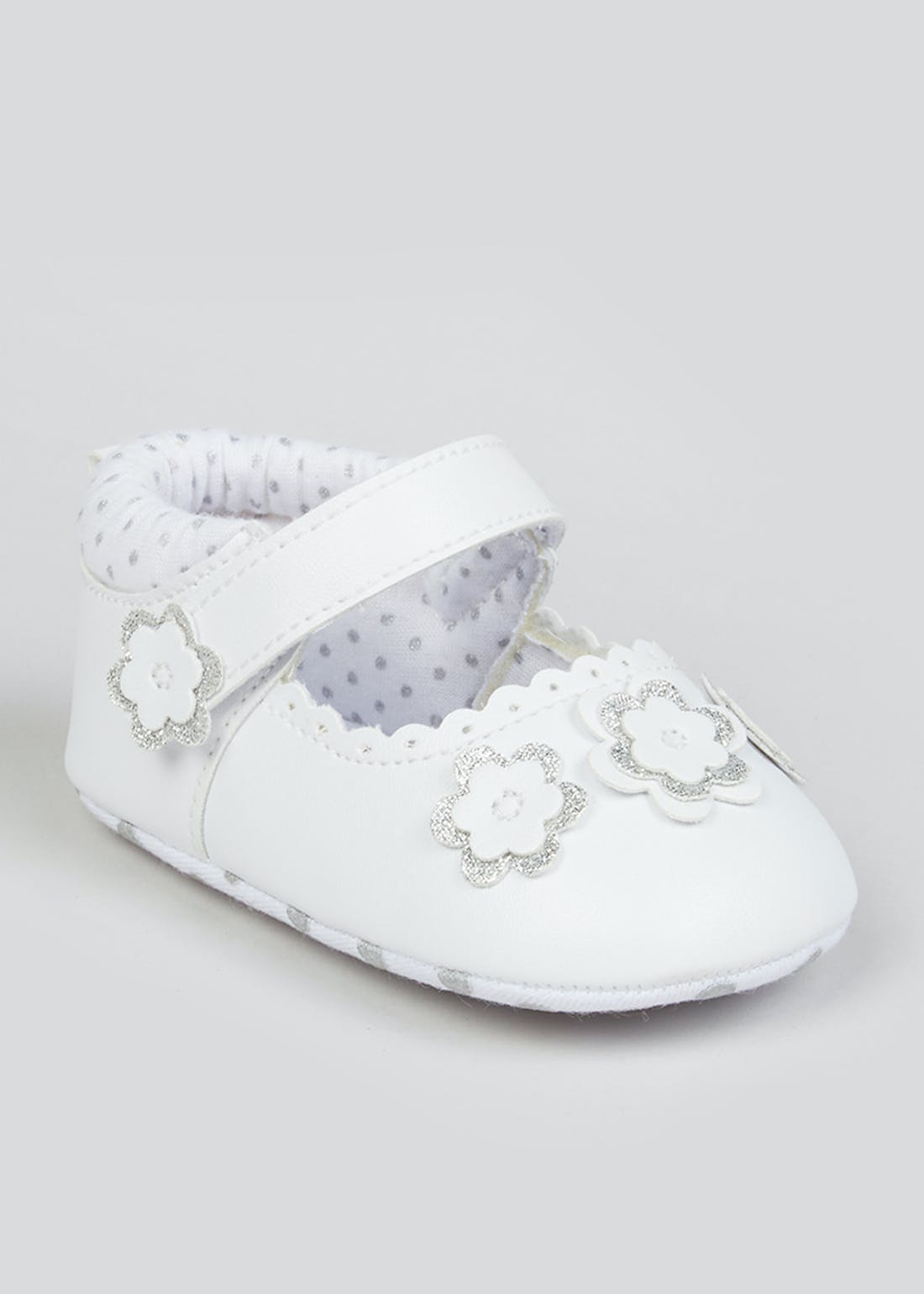 Girls White Ballet Baby Shoes (Newborn-18mths)