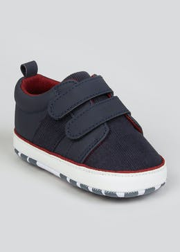 Boys Navy Soft Sole Baby Trainers (Newborn-18mths)
