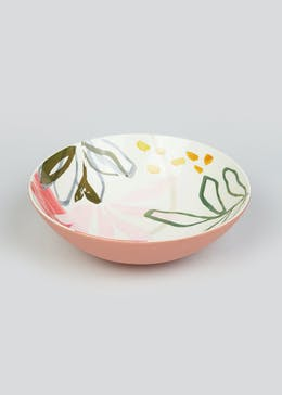 Hand Painted Floral Serving Bowl (26.5cm x 11cm)