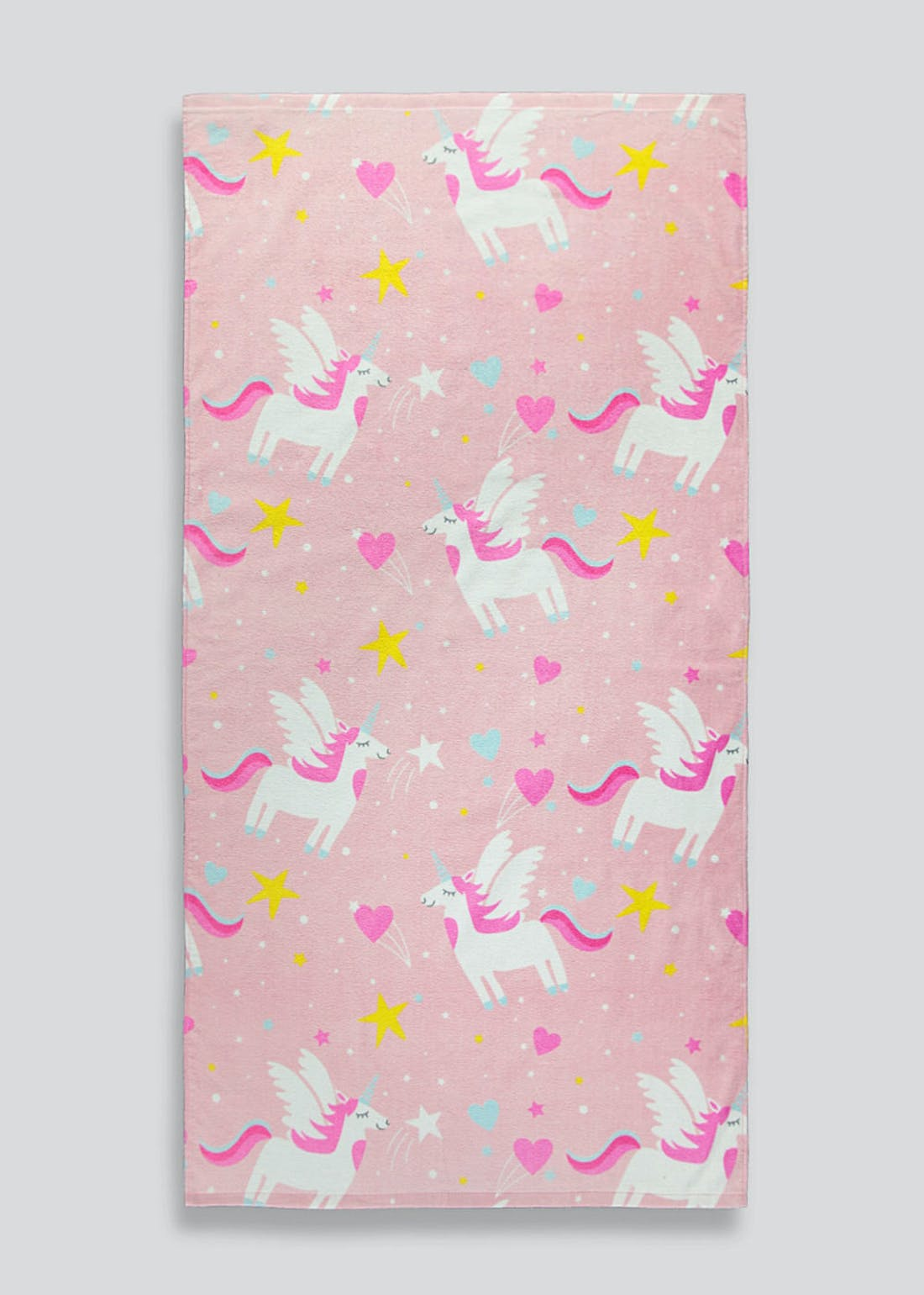 Kids Unicorn Print Beach Towel (140cm x 70cm)