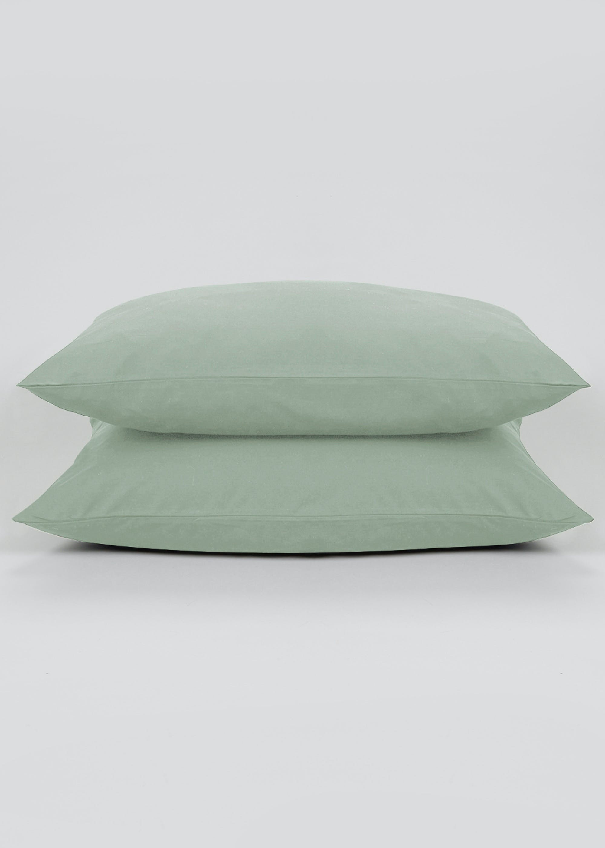 Cotton Rich Housewife Pillowcase Pair (180 Thread Count) Green wszklZ