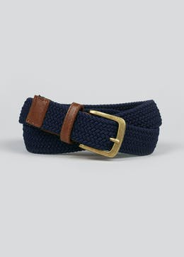 Navy Stretch Woven Belt