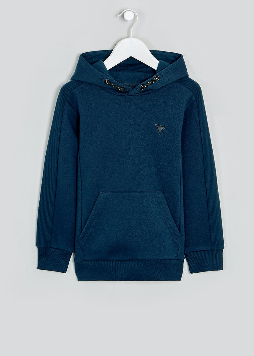 Boys Ribbed Panel Pull On Hoodie (4-13yrs)