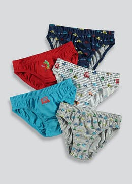 Boys 5 Pack Printed Briefs (2-9yrs)