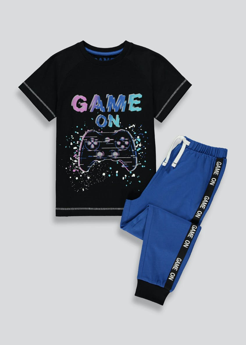 Boys Game On Pyjama Set (4-13yrs)