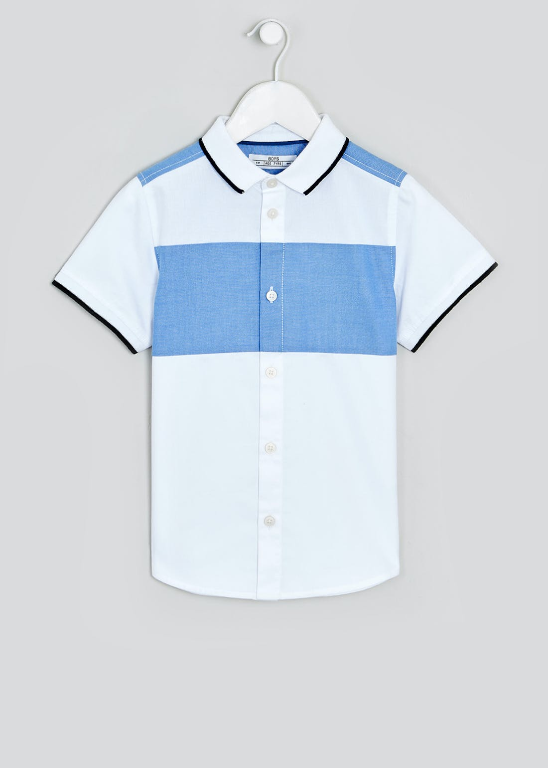 Boys Short Sleeve Oxford Shirt (4-13yrs)