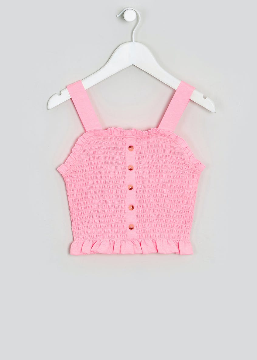 Girls Shirred Top (4-13yrs)