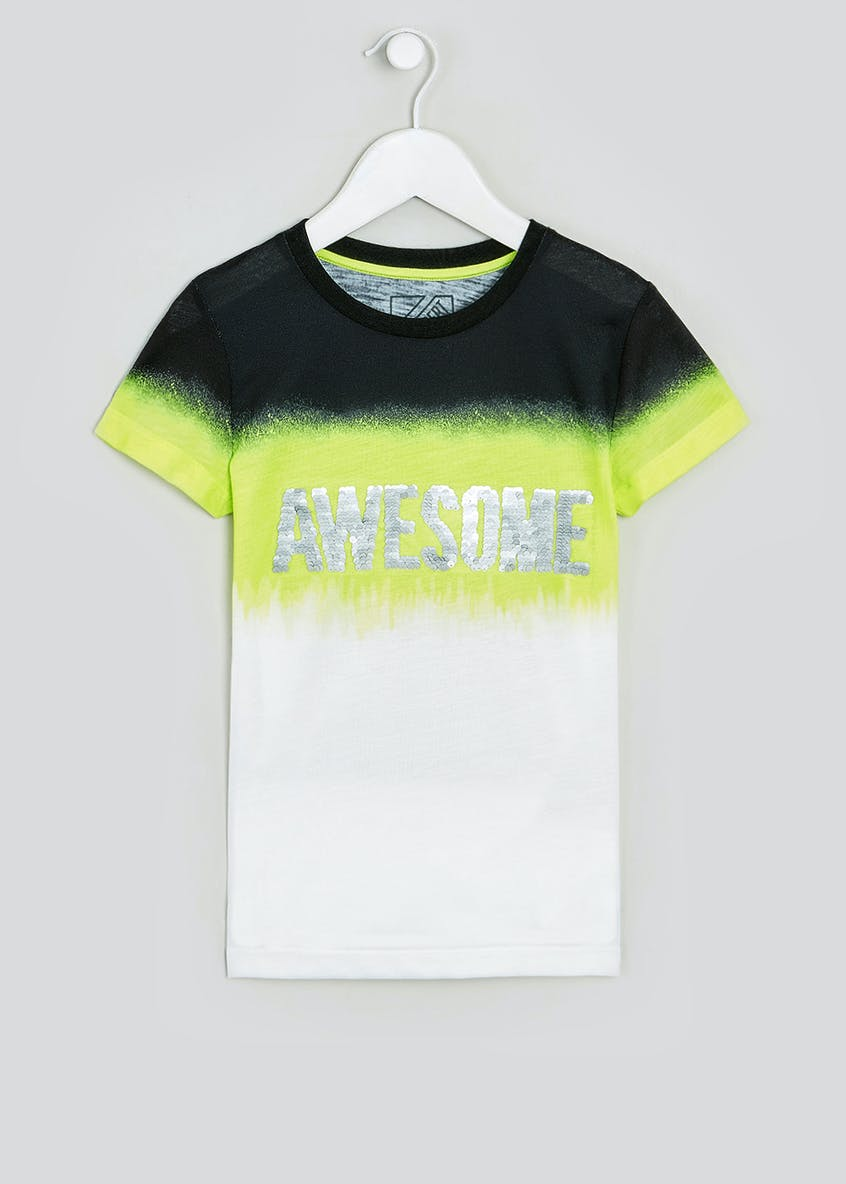 Boys Flippy Sequin Awesome T-Shirt (4-13yrs)