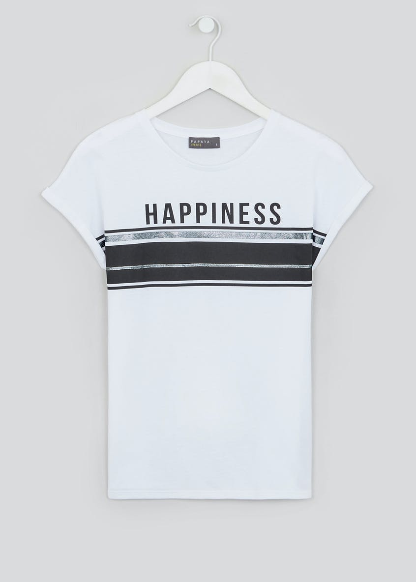 Papaya Petite Happiness Slogan T-Shirt