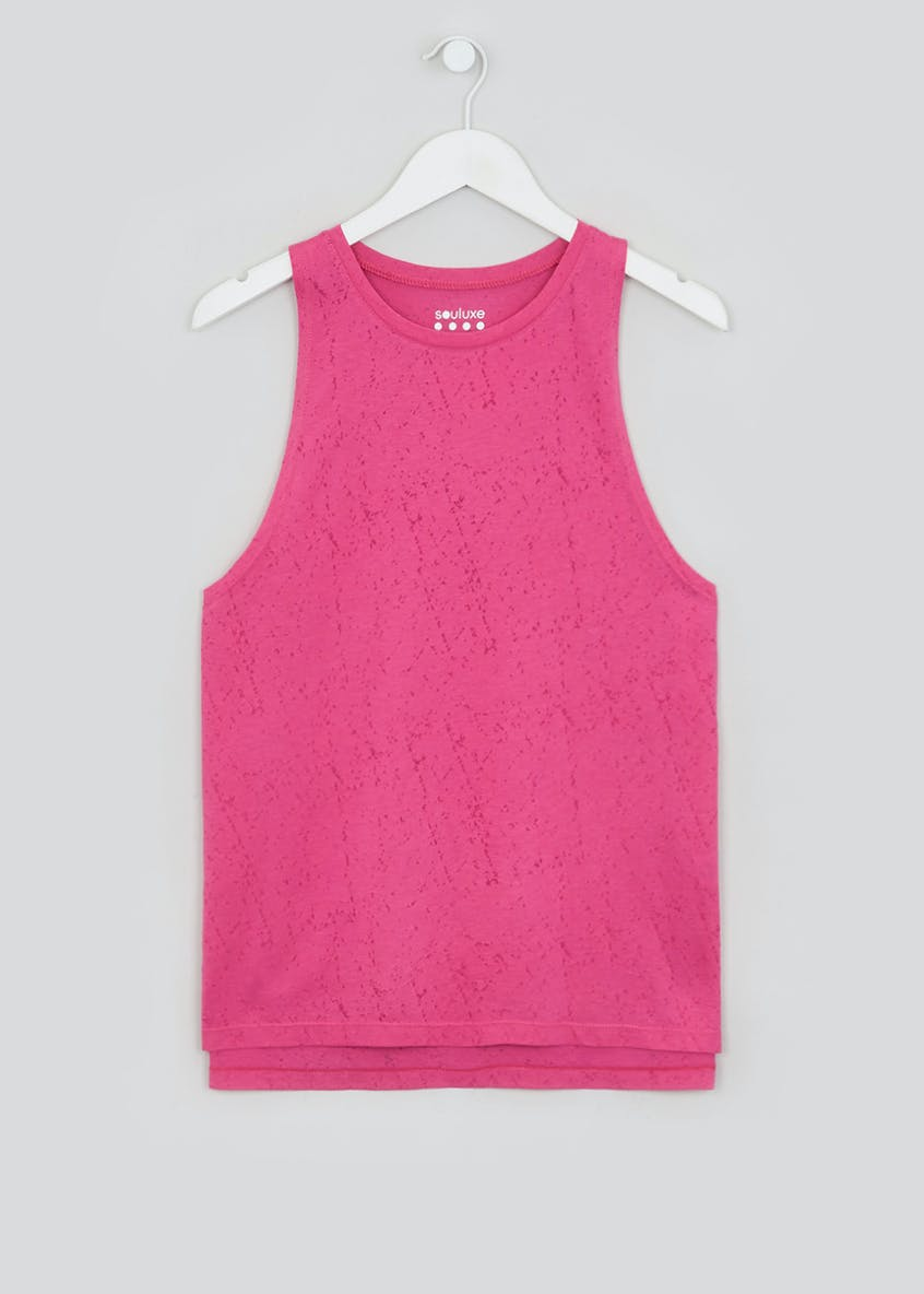 Souluxe Pink Burnout Gym Vest