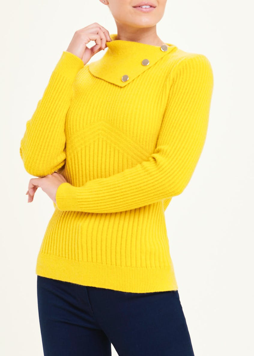 Soon Ribbed Foldover Neck Jumper
