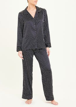 Polka Dot Satin Pyjamas