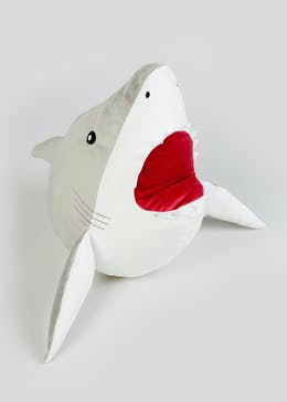 Kids Shark Cushion (34cm x 34cm x 20cm)