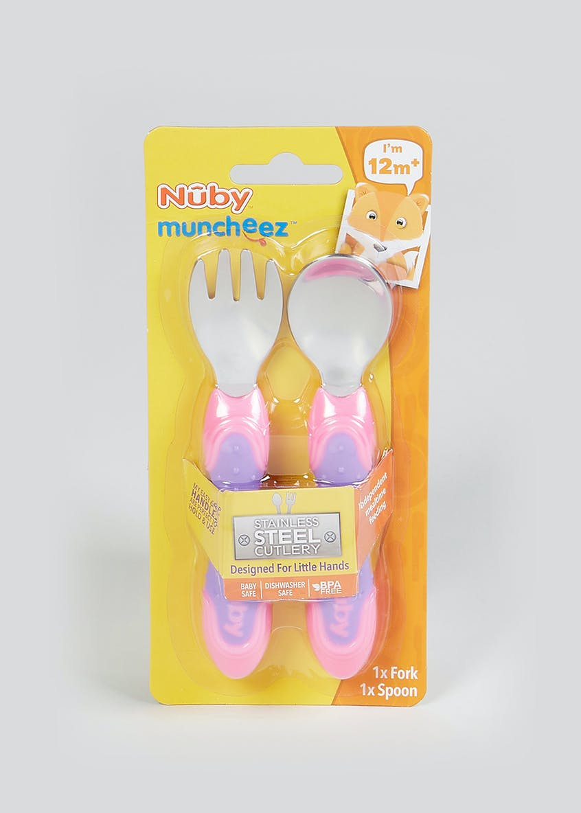 Nuby Stainless Steel Cutlery (12mths+)