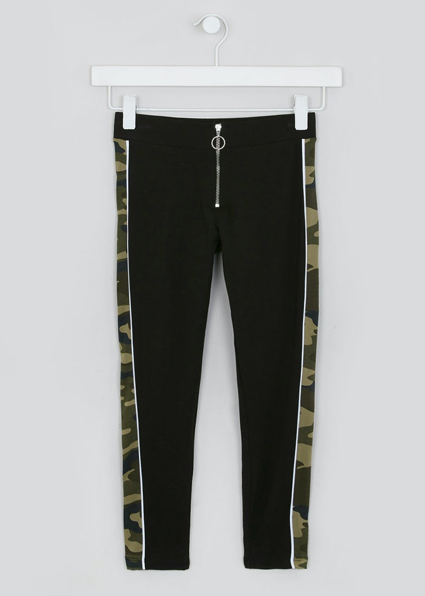 Girls Candy Couture Camo Panel Leggings (9-16yrs)