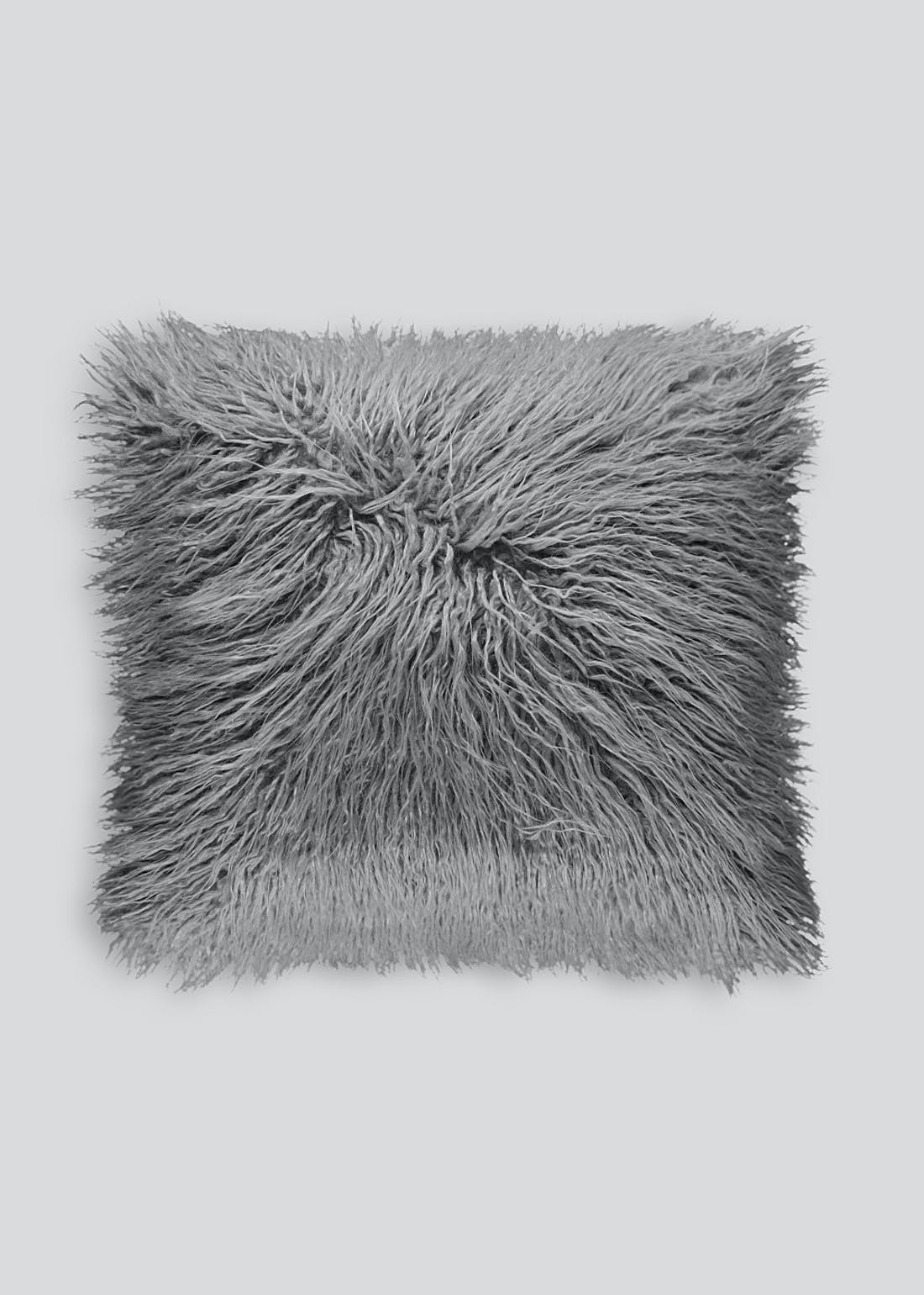 Double Sided Faux Mongolian Cushion (45cm x 45cm)