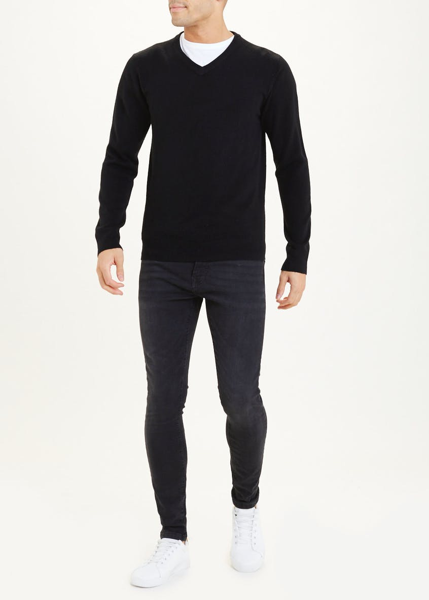 Cashmilon V Neck Jumper