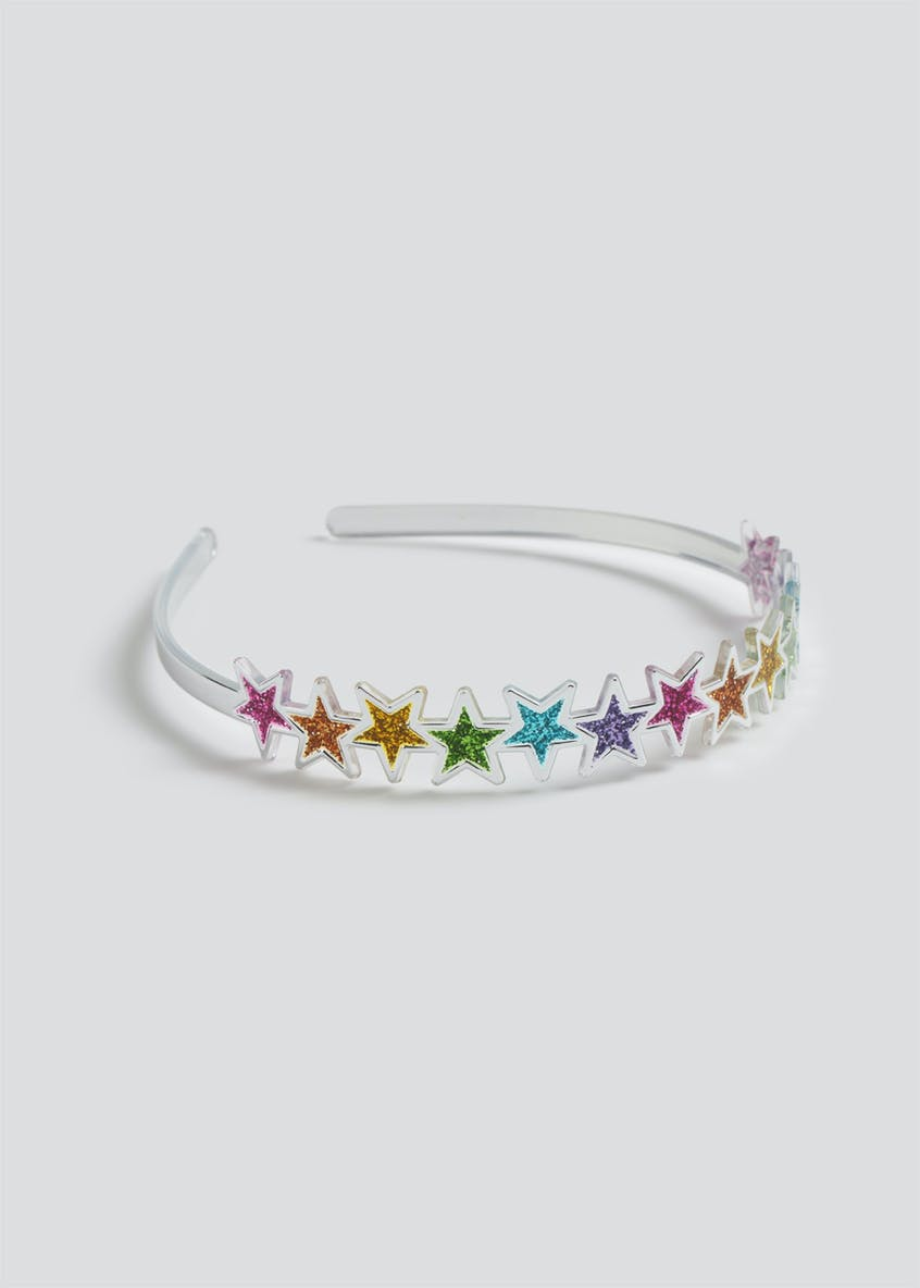 Girls Star Glitter Alice Band