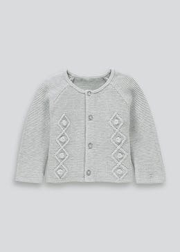 Unisex Knitted Cardigan (Tiny Baby-18mths)