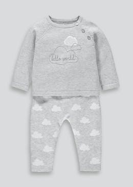 Unisex 2 Piece Knitted Cloud Set (Tiny Baby-23mths)