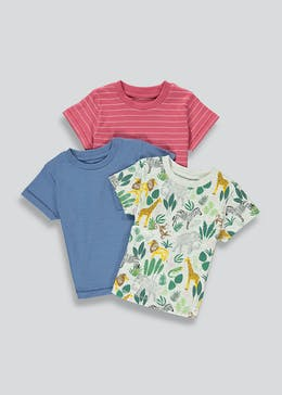 Boys 3 Pack Safari T-Shirts (9mths-6yrs)