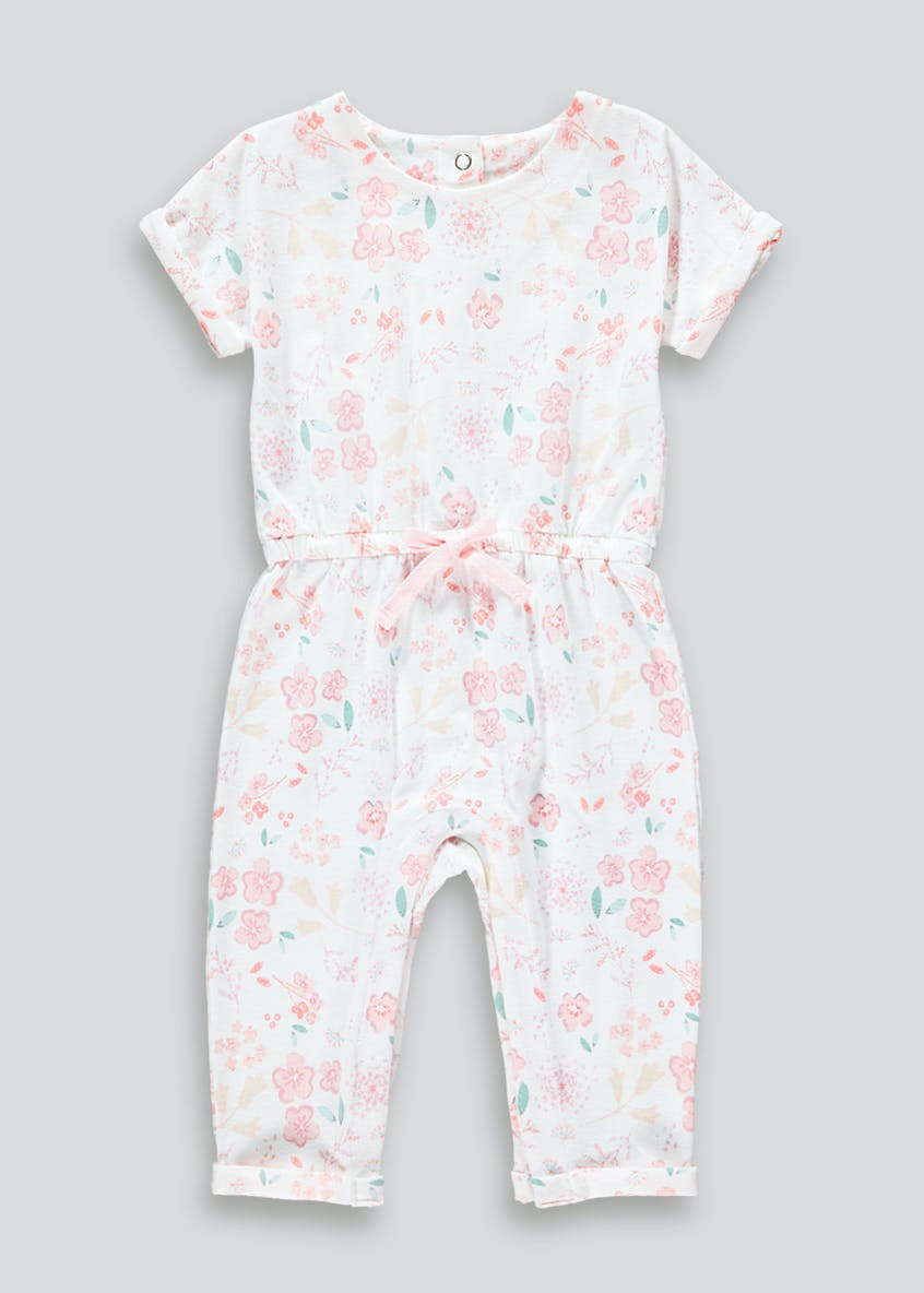 Girls Floral Short Sleeve Romper (Newborn-23mths)