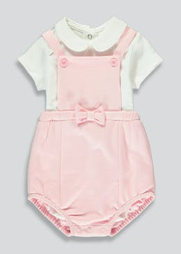 Girls Dungaree & Blouse Set (Newborn-23mths)
