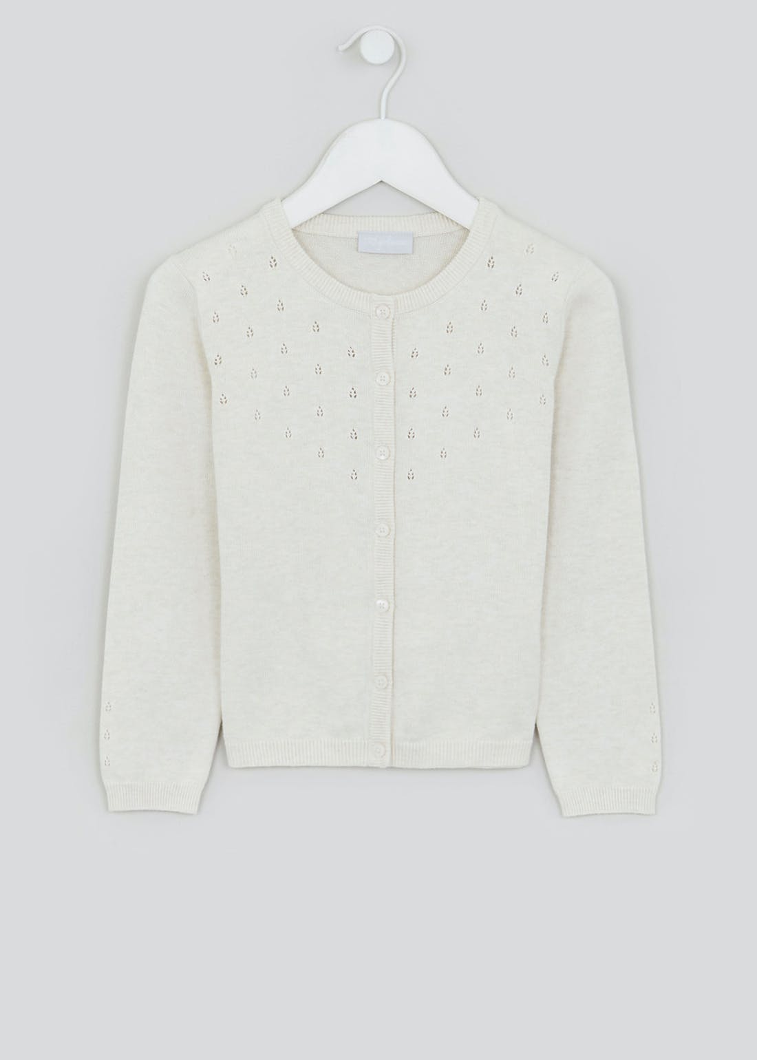 Girls Pointelle Cardigan (4-13yrs)