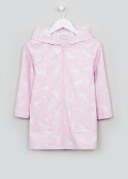 Girls Pink Colour Change Unicorn Mac (4-10yrs)