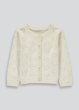 Girls Love Heart Cardigan (9mths-6yrs)