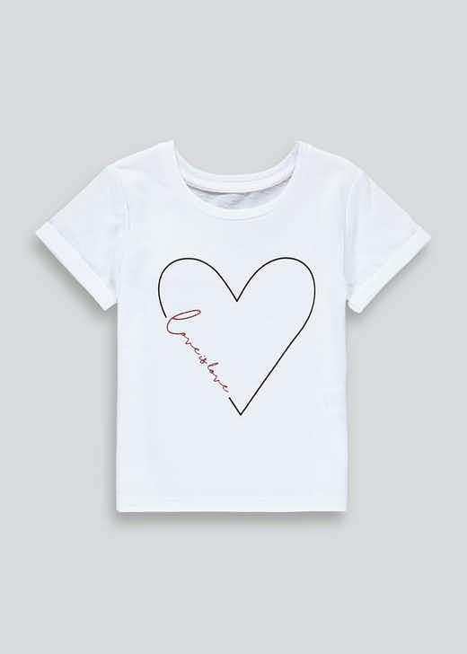 Girls Mini Me Love Is Love Slogan T-Shirt (9mths-6yrs)